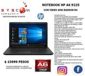 NOTEBOOK HP A6 9225 CON AMD RADEON R4