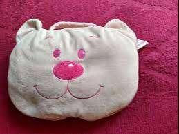almohadon  manta oso  c/u -auto almohadon sonajero nuevo