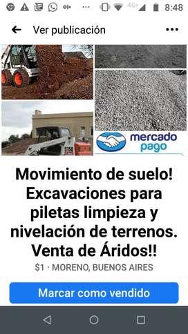 Movimiento de suelo limpieza excavaciones Plateas