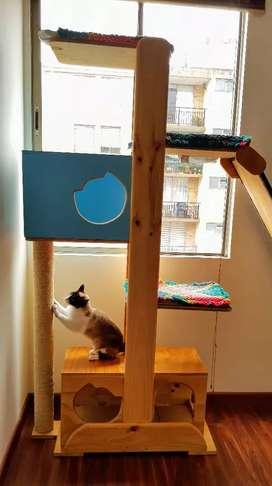 Gimnasio para gatos 1.80 alto con rampa