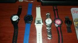 Relojes Lote de 6 Relojes Vendo Cambio