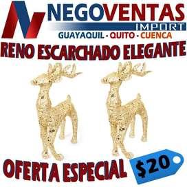 RENO ESCARCHADO ELEGANTE VARIEDAD EN COLORES EN OFERTA