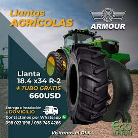 LLANTAS ARMOUR   18,4 x 34 R-2 + TUBO GRATIS