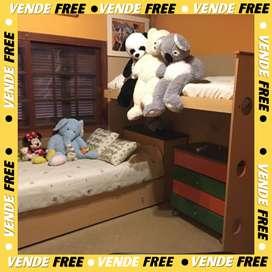 Juego dormitorio/ cama nido + cama marinera
