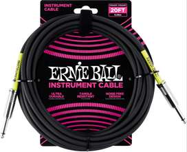 Cable Ernie Ball 6mt. Instrumento 6046