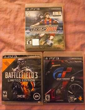 Vendo 3 juegos fisicos Playstation 3 originales