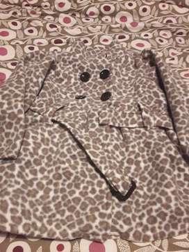 Tapadito polar animal print usa para niña 4 y 5 años