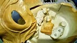 Dioramas miniatura y maqueta de pintado marcas Lucas film nuevos solo fueron exhibidos se vende o cambia