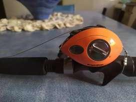 Reel mas caña redfish para bait