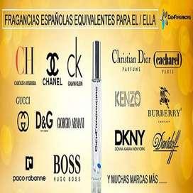 PERFUMES EQUIVALENTES DE HOMBRE Y MUJER 55 ml