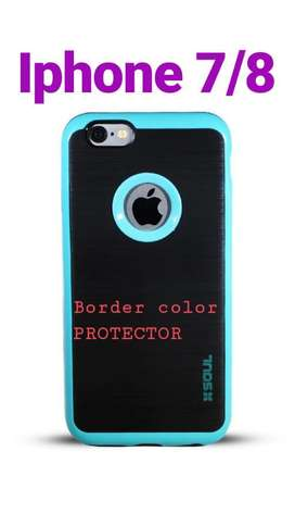 Funda iPhone 7 8 Border Color Protector