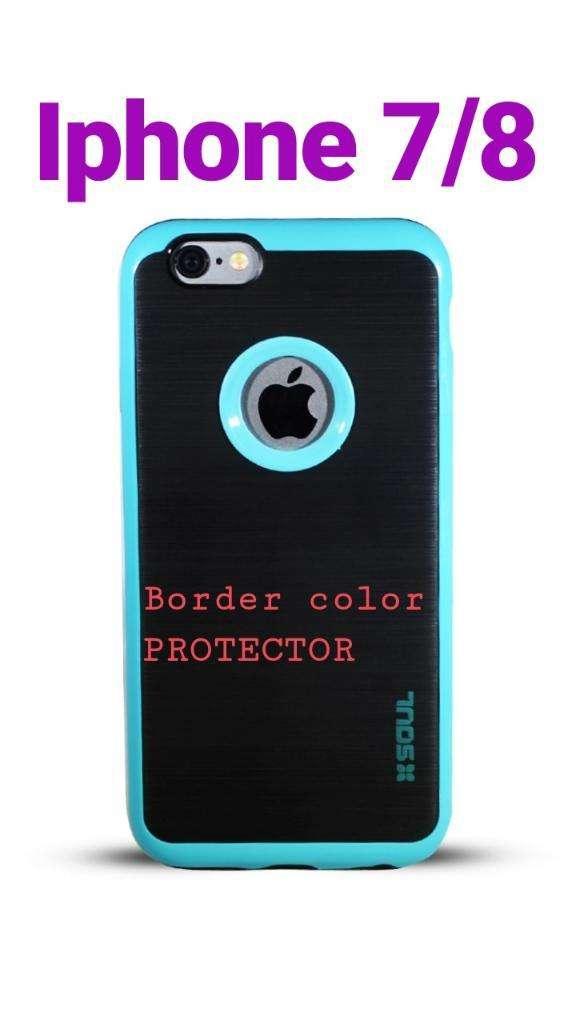 Funda iPhone 7 8 Border Color Protector