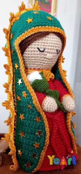 Virgen Guadalupe tejida Amigurumi