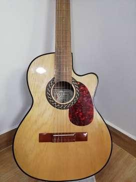 Guitarra Acústica y Electro acústica Española + Forro + Cartilla de Aprendizaje + 2 uñas