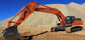 Alquiler de Excavadoras Operada con martillo hidráulico - Doosan, Sany, Cat.