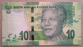 Billete Sur África 10 rand Nelson Mandela