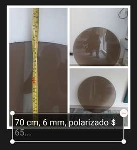 Vendo soporte circular en vidrio, 70 cm, 6 líneas, polarizado