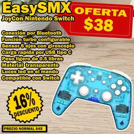 Mando Pro Inalámbrico para Nintendo Switch, Marca EasySMX Color AZUL