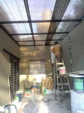 Hacemos trsbajos de herreria techos estructuras escaleras portones trabajamos con maderas construccion todo llamenos