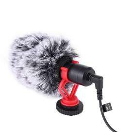Micrófono de vídeo universal con soporte de choque