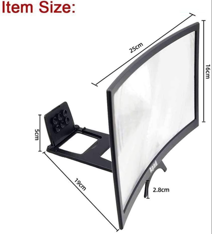 Amplificador de imagen curvo lupa pantalla celular 3D 12 pulgadas