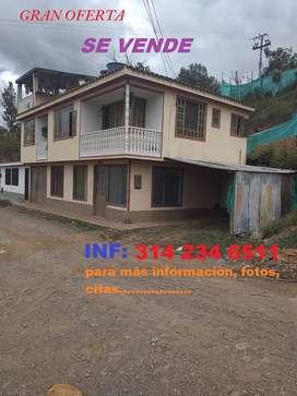 *Vendo Bonita Casa de 2 Pisos en Garagoa Boyacá, Barrio San Rafael*