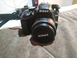 Vendo nikon d3400 con dos lentes 50 mm y 18-55