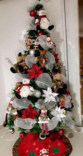 Hermoso Arbol de navidad mide 2.10 excelente precio