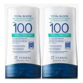 TOTAL BLOCK SPF100 MATIFICANTE DE YANBAL !!PROMO 2X1!!
