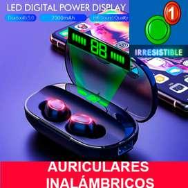 Auriculares inalámbricos Bluetooth V5.0 con pantalla LED