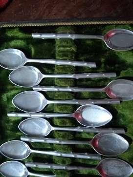 11 cucharitas de alpaca bañadas en plata