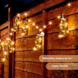 Guirnaldas luces micro LED botellas X10 navidad 3.3 metros