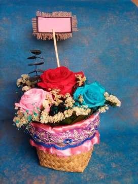 Flores de regalo/Rosas eternas/Decoraciones de oficina y hogar/Regalos personalizados/ por mayor y menor