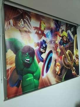 Black out estampado de los Avengers Lego