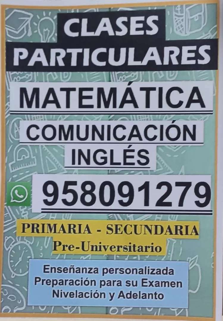Clases de matemática e inglés 0