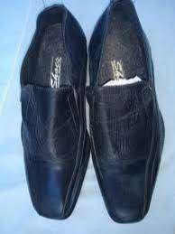 Zapato Mocasin Confort 39 CUERO Negro Vestir