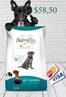 Nutra pro cachorros 20 kg  entregas gratis  aceptamos visa o mastercard