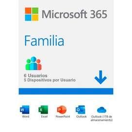 Microsoft 365 Familia (6 meses) Código nuevo y original