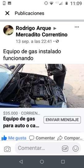 Vendo equipo de gas para auto y camioneta