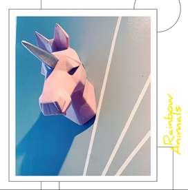 Cabeza decorativa de unicornio