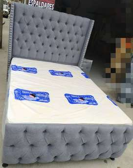 oferta en base camas, colchones y espaldares y todo lo relacionado para el descanzo