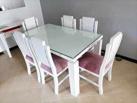 Mesa de comedor 6 puestos