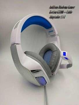 Audifono Diadema Gamer Kotion G5300 + Cable Adaptador 2 A 1