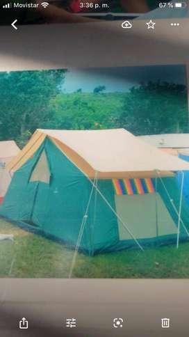 Carpa para camping 4-6 personas,MarcaCararavana K3-80000.