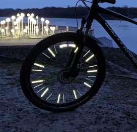12 tubos para radios de rin bicicleta reflectivo.