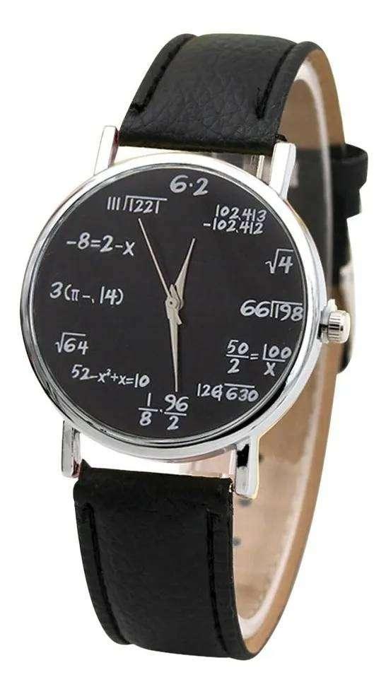 Reloj De Cuarzo y Dial Matemático