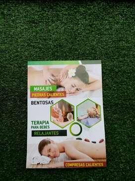 Se hace terapia y masajes
