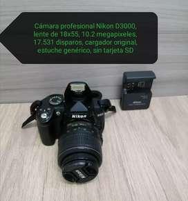 Cámara profesional Nikon D3000