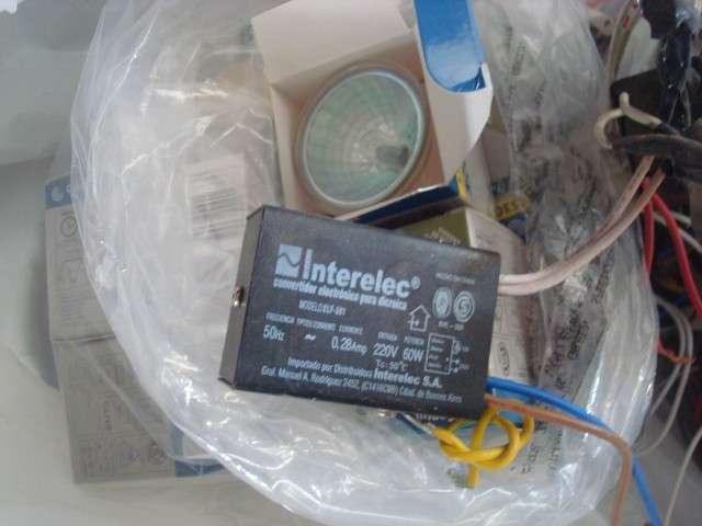 Dicroicas 50w (15), transformadores electronicos 0
