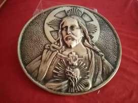 Placa en Bronce Maciza SAGRADO CORAZÓN DE JESÚS